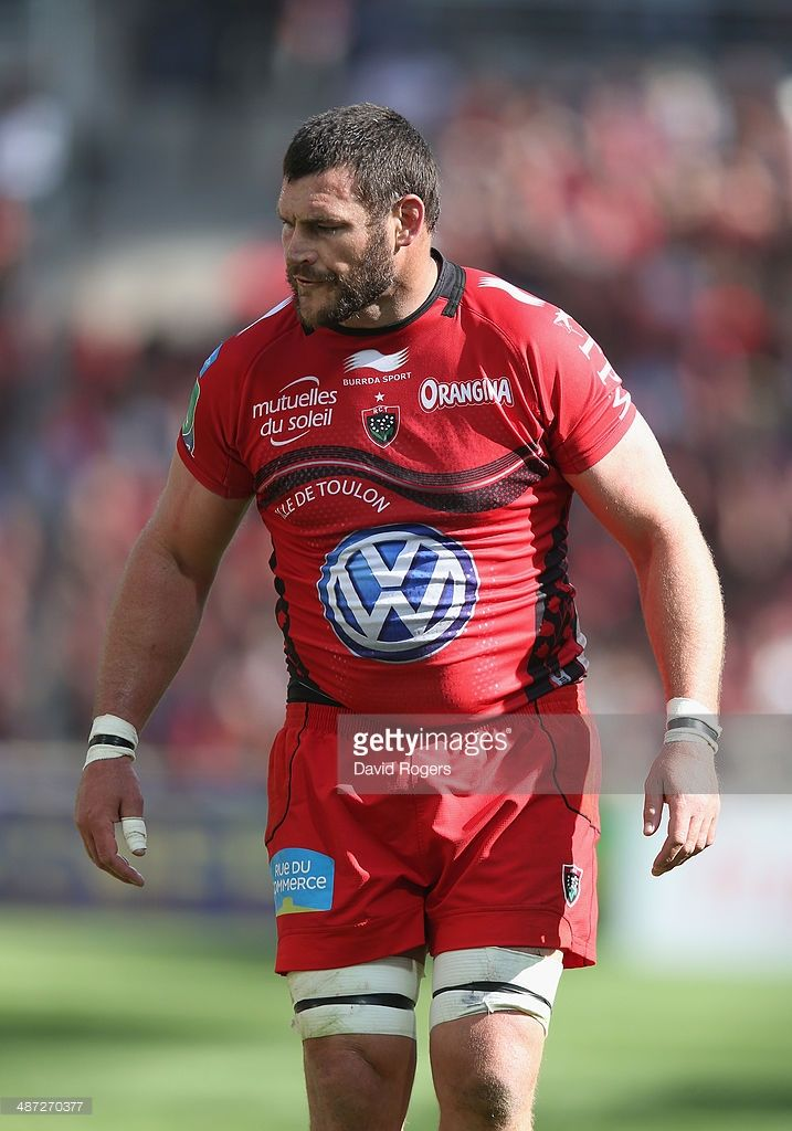 Danie Rossouw of Toulon looks on during the Heineken Cup semi final match between Toulon and Munster at the Stade Velodrome on April 27, 2014 in Marseille, France.