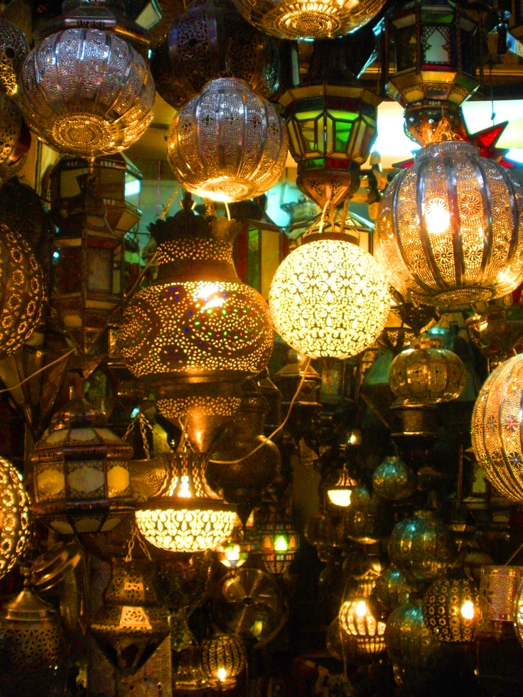 Moroccan lanterns.  Just saw this on another pinner's board. Inspired my Room of Lights.