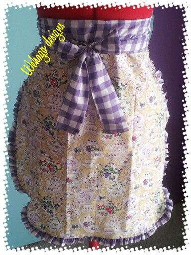 Pretty apron for high afternoon tea!