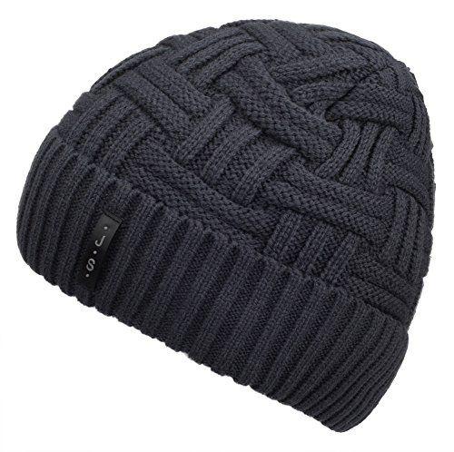 Spikerking Mens Winter Knitting Wool Warm Hat,Grey Spiker…