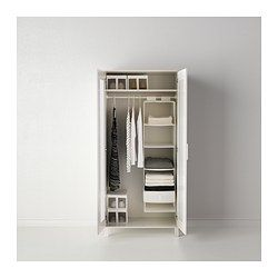 """*TWO next to each other! ANEBODA Wardrobe, white $99.99 Article Number: 901.217.62 Adjustable hinges ensure that the doors hang straight. Adjustable shelves and clothes rail make it easy for you to customize the space according to your needs. Read more Size 31 7/8x70 7/8"""""""