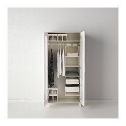 IKEA - SKUBB, Rangement à 6 compartiments, blanc, , Fixation par bande auto-agrippante pour accrocher et décrocher facilement.Les tiroirs se retirent plus facilement des compartiments si vous retenez le rangement d'une main par la sangle en bas.Se replie à plat pour un gain de place.