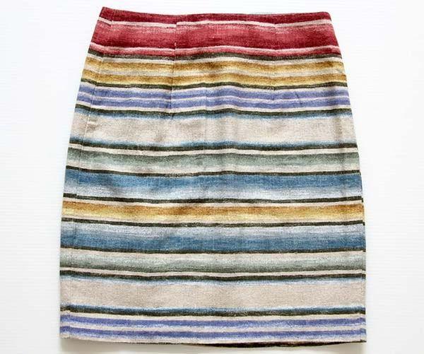 画像2: USA製JESSICA STEVENS ラグ柄 リネン混 巻きスカート 7