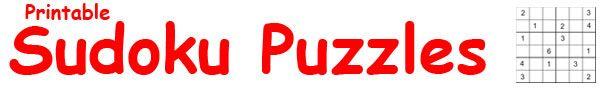 Printable Sudoku Worksheets for Kids