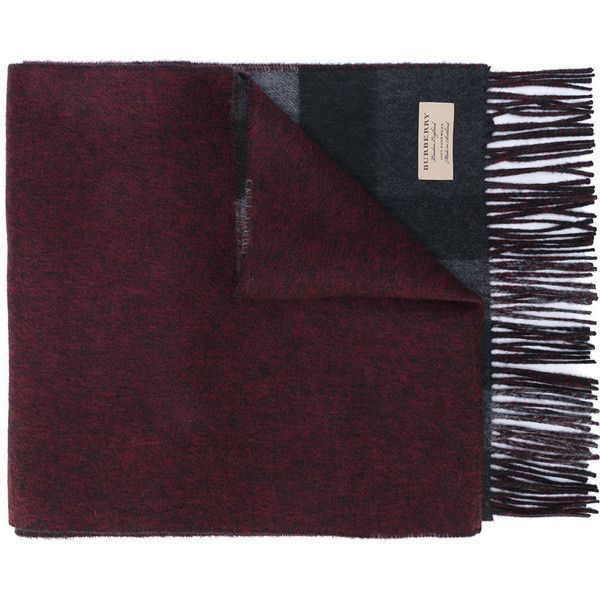 Burberry cashmere oversize check scarf (€530) ❤ liked on Polyvore featuring men's fashion, men's accessories, men's scarves, grey, burberry mens scarves and mens cashmere scarves