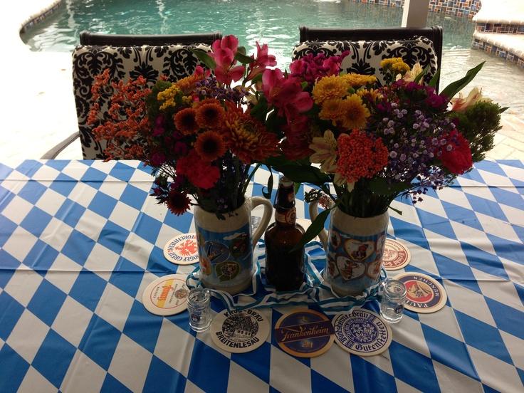 German Wedding Gifts: Oktoberfest Table Flower Arrangement