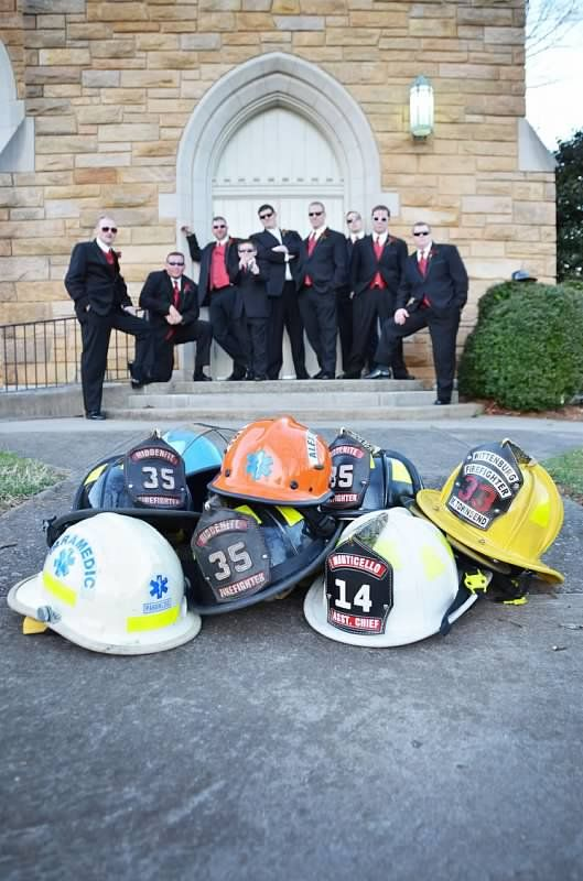 A.S.W. Weddings: Emily & Nathan  Firefighter Groomsmen ©Amber S. Wallace Photography
