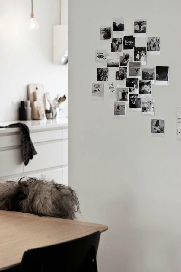 Instagram en polaroid foto's in huis (via Bloglovin.com )