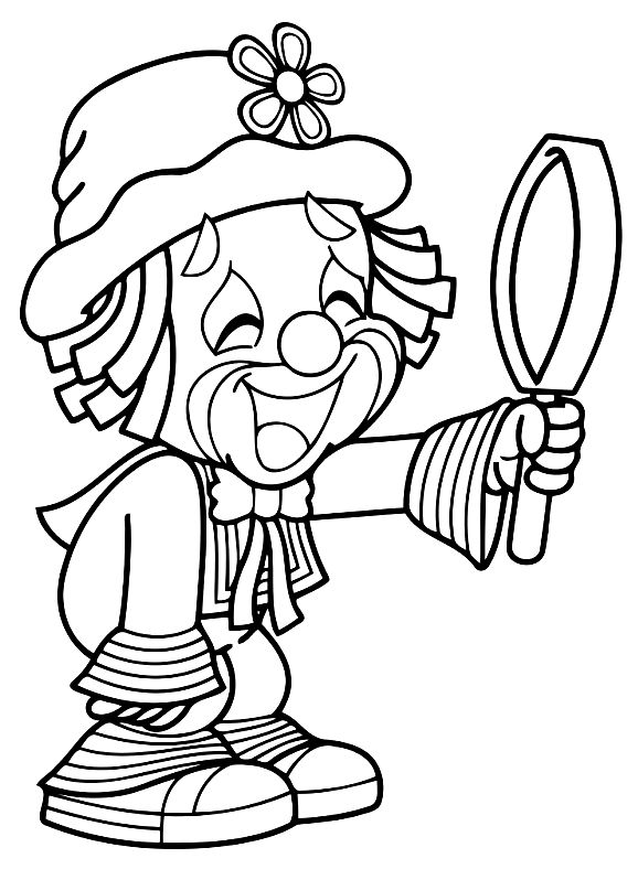 clown mouth coloring pages - photo#18