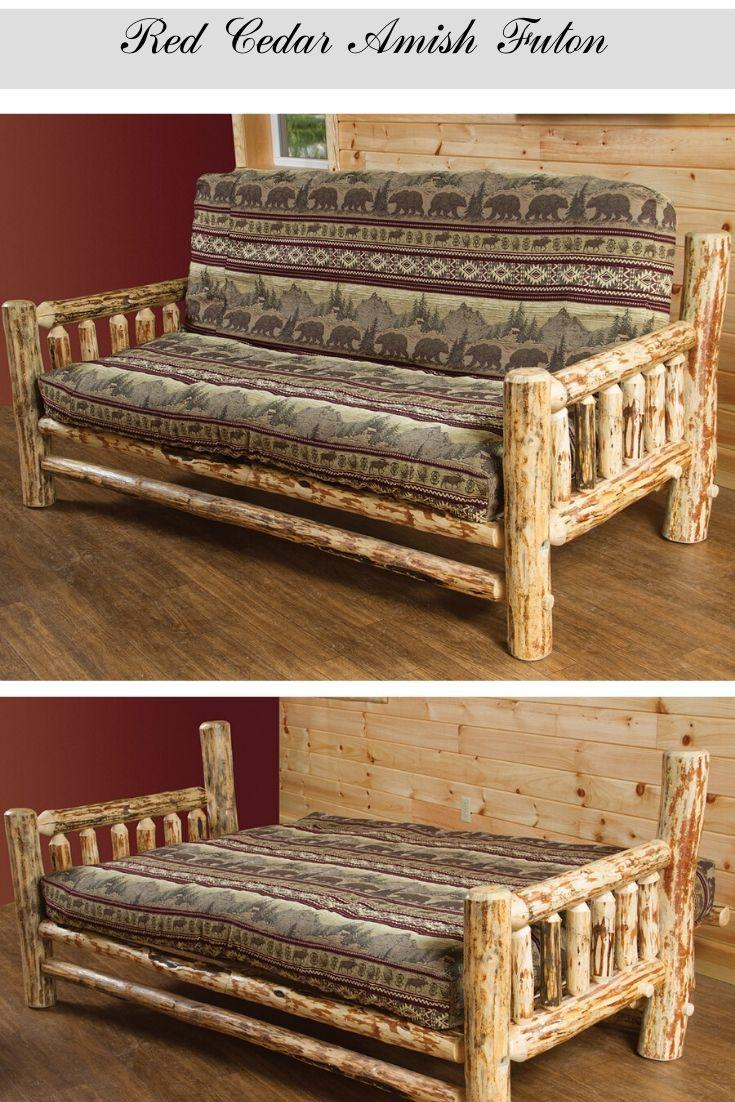 Red Cedar Amish Futon In 2020 Rustic Furniture Rustic Furniture Diy Rustic Furniture Design
