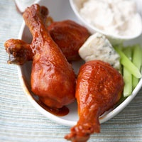 Buffalo Chicken Drumsticks with Blue Cheese