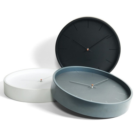 Tone35 Grey clocks by Leff Amsterdam at www.yasidesign.com, Click  to Experience.