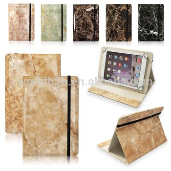 Marble Design 10 inch Tablet Protective Case Foldable and Solid Stand Case Compatible with All Universal 10 inch Tablet