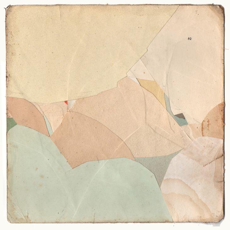 "moglu: "" Kawéskar - Collage on card, 180x180mm """