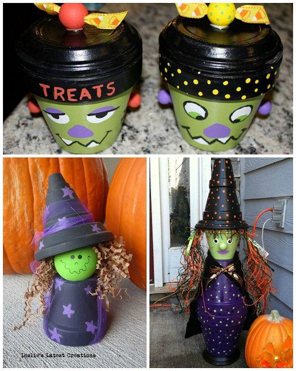 Flower Pot Halloween Crafts