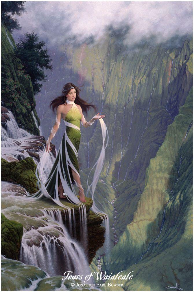 Waialeale, Goddess of the Mountain Rain, as She gently shapes the towering heights of Kauai...