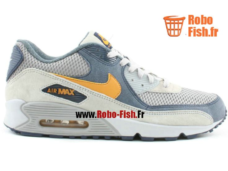 Nike Air Max 90 Premium - Chaussure Nike Running Pas Cher Pour Homme Gris 308856-471