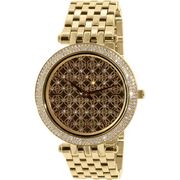 Michael Kors Women\u0027s Darci MK3398 Gold Stainless-Steel Quartz Fashion Watch