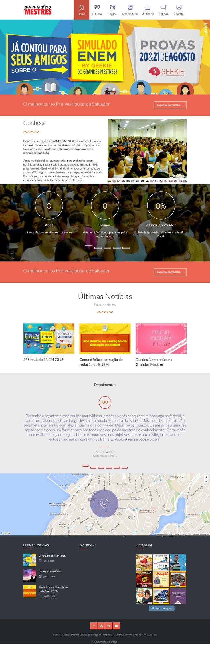 Website do Curso Pré Vestibular Grandes Mestres