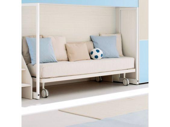 Letto contenitore senza testiera Turca, un modello di letto contenitore singolo per camerette personalizzate