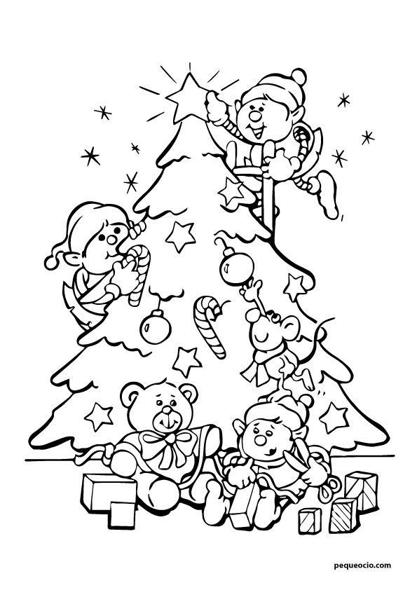 20 Arboles De Navidad Para Colorear Y Como Dibujar Un Arbol Navideno Pequeocio Arbol De Navidad Para Colorear Paginas Para Colorear De Navidad Colores De Navidad