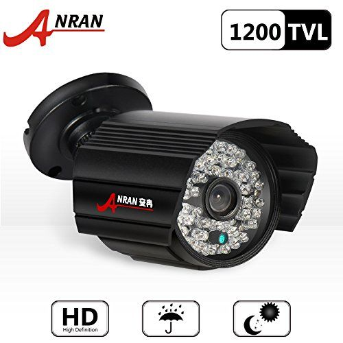 From 26.99:Anran 1200tvl 80ft Day Night Vision 3.6mm Wide Angle Waterproof Outdoor Security Camera Hd Cctv Camera