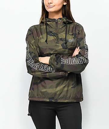39832d469048b Obey World Wide Outline Camo Anorak Jacket in 2019 | Clothes ...