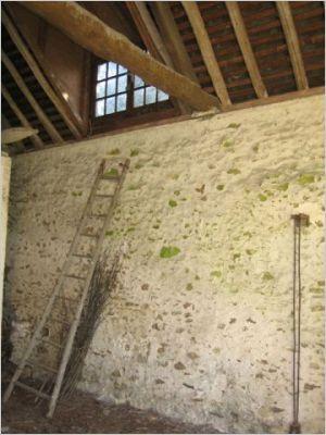 A l'intérieur, un constat tout aussi accablant. Les murs en pierre, recouverts de mousse, souffraient de l'humidité permanente.