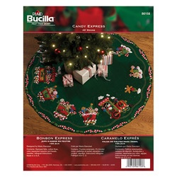 @Overstock - Candy Express Tree Skirt Felt Applique Kit  - Designer Maria Stanziani presents this classic Bucilla tree-skirt felt applique kit. This tree skirt is beaded, sequined, and embroidered to give it an elegant and inviting look. No Christmas tree is complete without this beautifully styled piece.    http://www.overstock.com/Crafts-Sewing/Candy-Express-Tree-Skirt-Felt-Applique-Kit/6191682/product.html?CID=214117  CAD              58.86