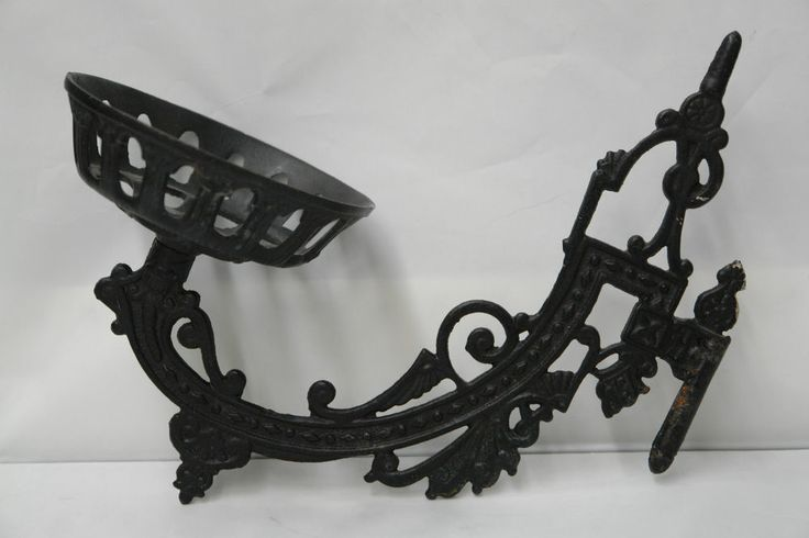 Vintage Iron Wall Sconces : Vintage Cast Iron Antique Oil Lamp Candle Holder Wall Sconce country home decor Pinterest ...