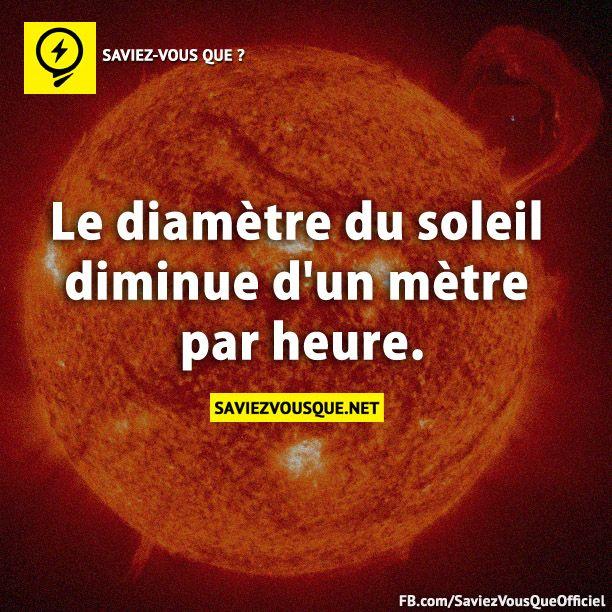 le diametre du soleil