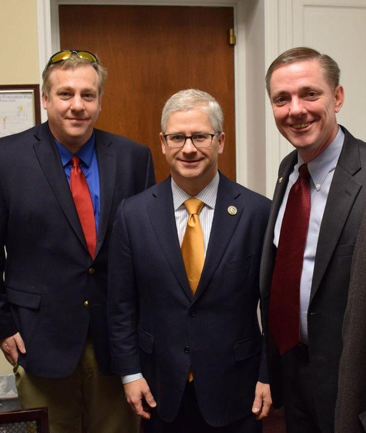 William Gheen visits with Congressman Patrick McHenry (R-NC)
