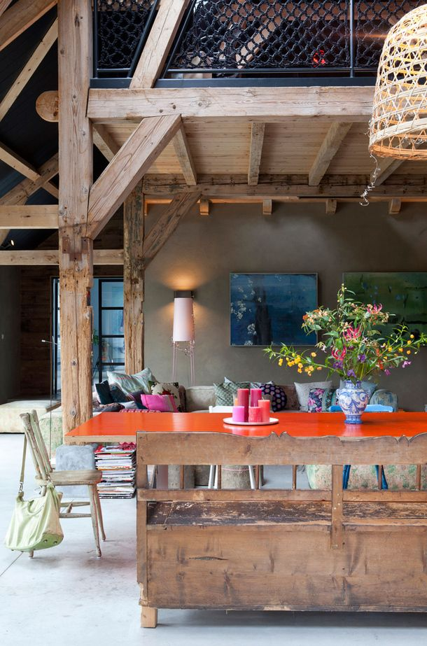 STYLEJUICER | A DUTCH FARMHOUSE WITH ADDED QUIRKINESS.    Lots of cool photos!