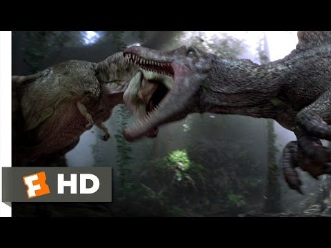 Jurassic Park 3 (3/10) Movie CLIP - Spinosaurus vs. T-Rex (2001) HD - YouTube