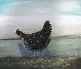 Running Hen  by Hannah Hann