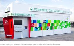 Reimagine Beverage Containers recycling centers are designed to offer  consumers a fun and profitable option for recycling their used beverage  bottles and ...