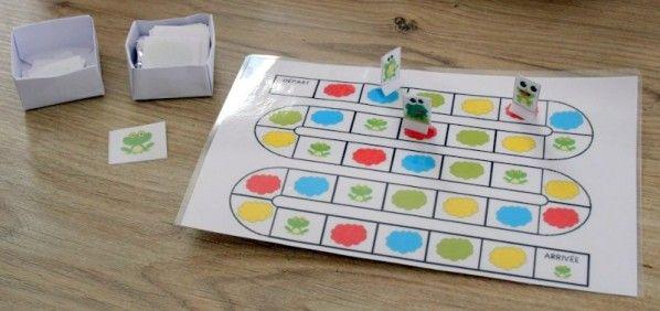 Het grote kikker bord spel - Frog game, free printable