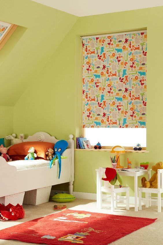snap orange roller blind