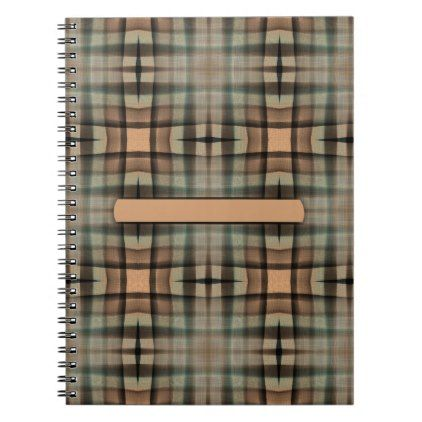 Unique Pattern | Blank Text Banner Notebook  $18.95  by GLManley  - cyo diy customize personalize unique