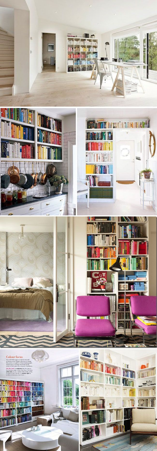 61 best storage shelves images on pinterest home architecture obsessed with the idea of organizing books by color