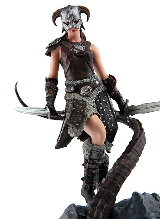 Modern Icons #4 The Elder Scrolls V Skyrim Female Dragonborn Statue Figure NIB