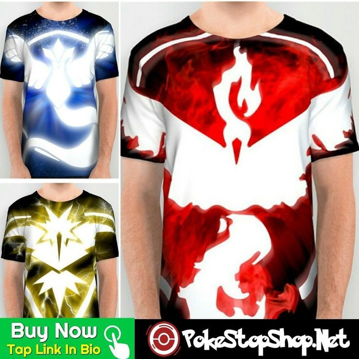 Buy Now w/Shipping@pokemonshopnet Which Team Has The Best Design? Comment Withor Visit www.PokeStopShop.Net for More Pokemon Go Team Gear. Rep Your Team!