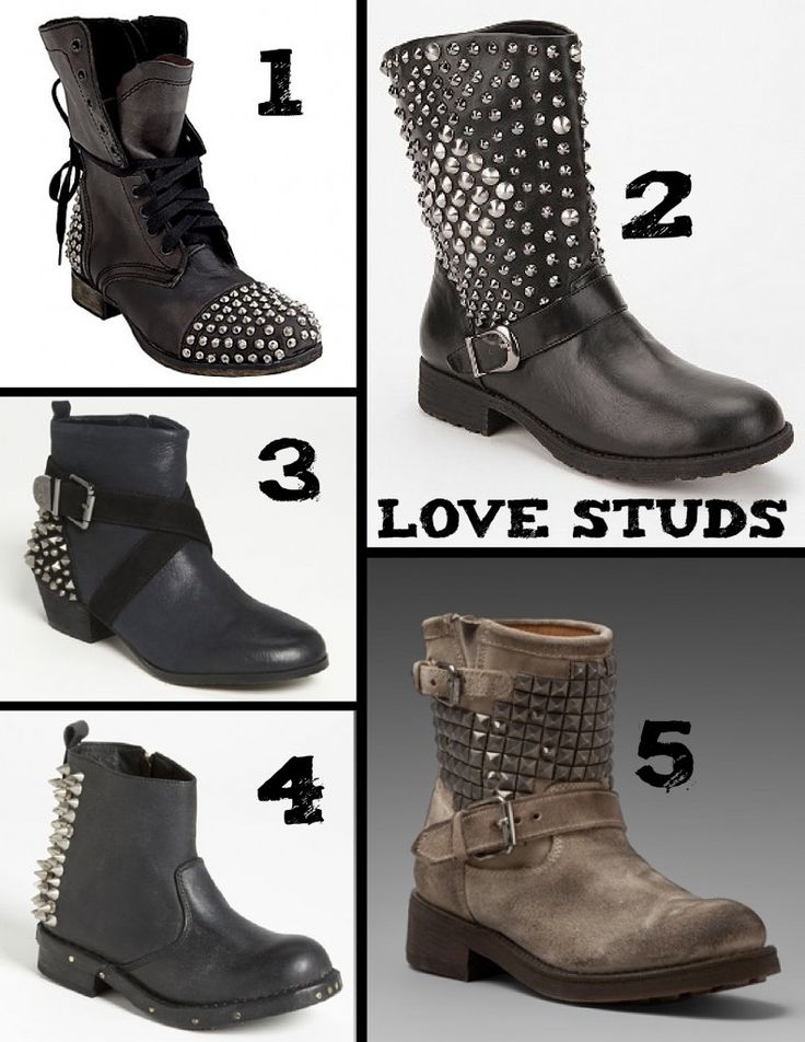 LOVE studded boots