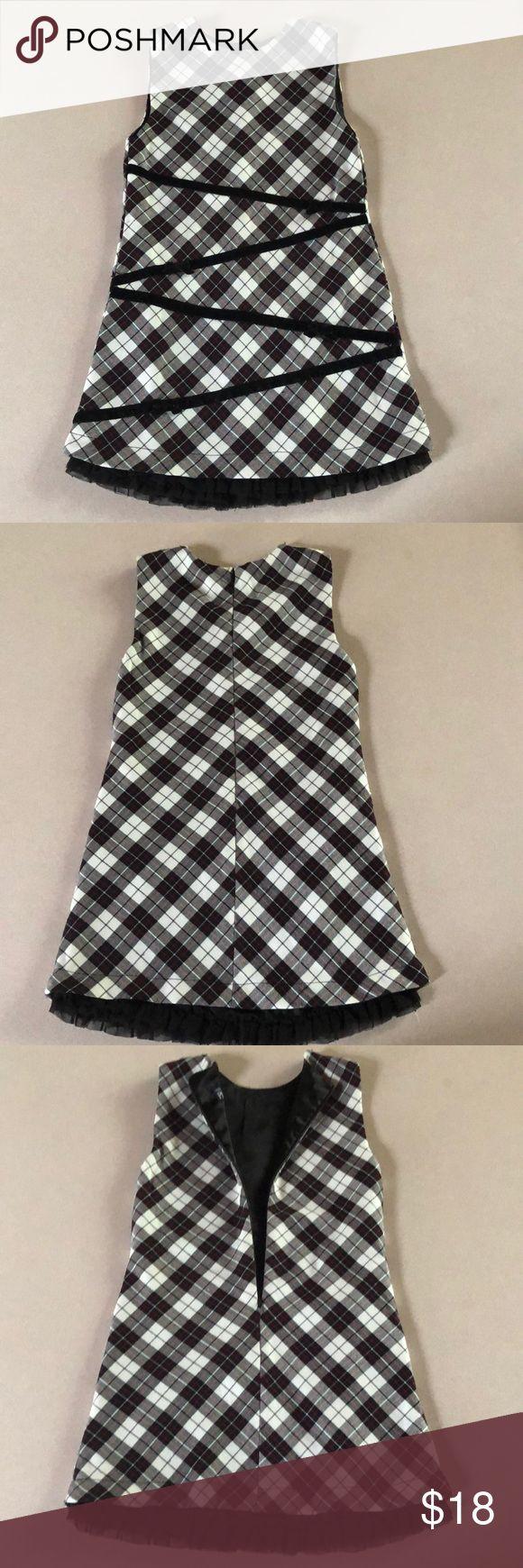 ?EUC Dress BlackWhite-Red Dress...black ruffle slip underneath... Back zipper... 3