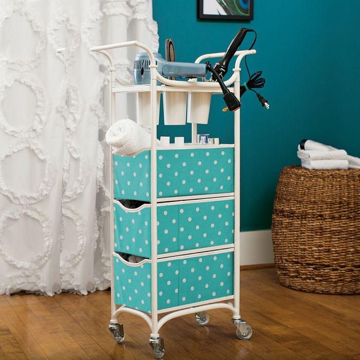 Bathroom storage cart bathroom pinterest - Bathroom storage on wheels ...