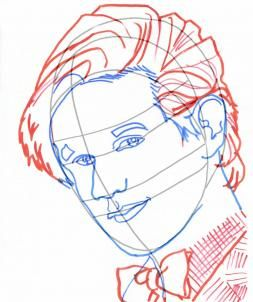 How to Draw Dr Who, Draw Doctor Who, Doctor Who, Step by Step, Portraits, People, FREE Online Drawing Tutorial, Added by catlucker, September 2, 2011, 3:01:45 pm