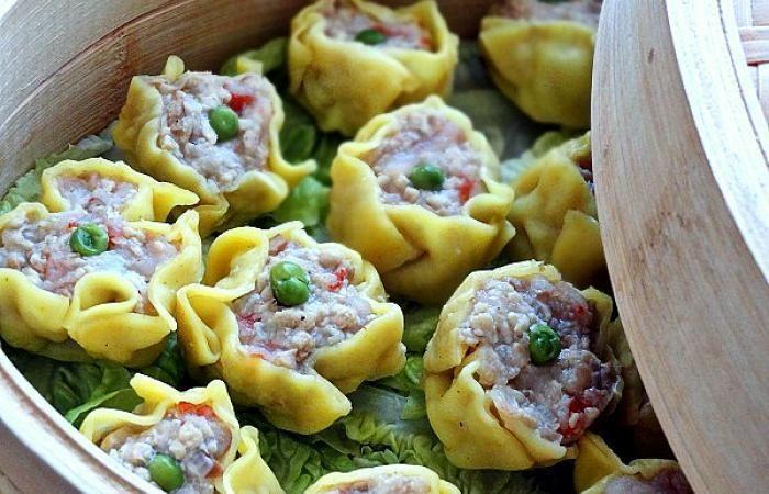 Régime Dukan (recette minceur) : Xiu mai (dim sum - bouchées à la vapeur) #dukan http://www.dukanaute.com/recette-xiu-mai-dim-sum-bouchees-a-la-vapeur-10037.html