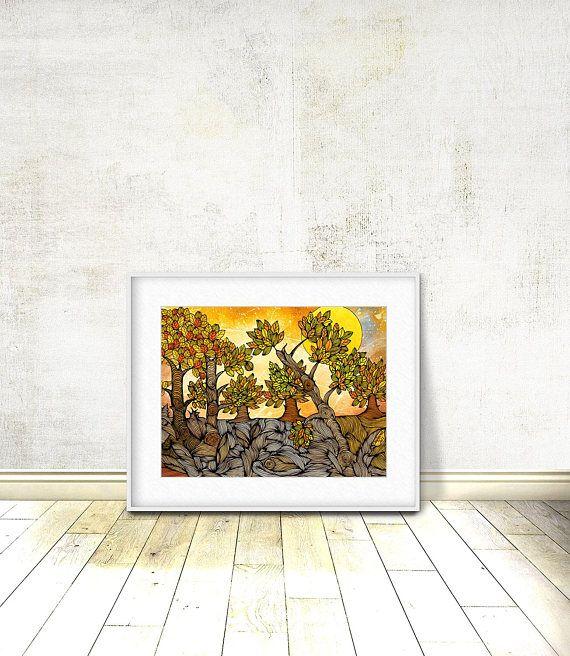 Autumn Landscape Landscape Forrest Landscape Wall Art
