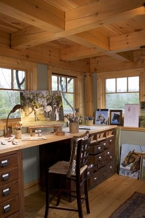 Mill Creek Timber Frame Homes - Craft Room