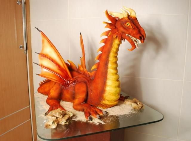 136 best cakes with dragons images on Pinterest Dragon cakes
